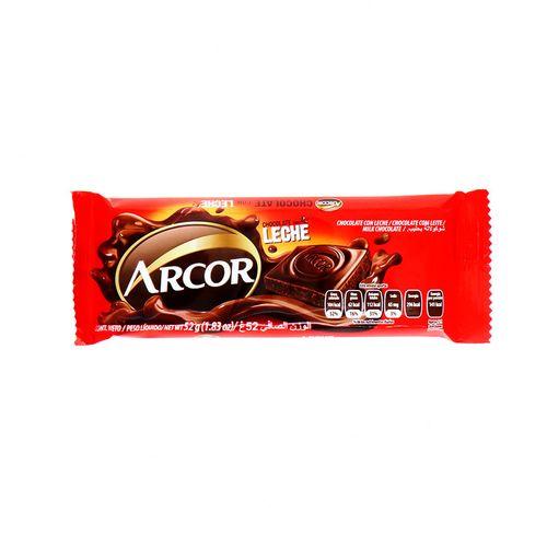 Chocolate Arcor Con Leche 52 Gr
