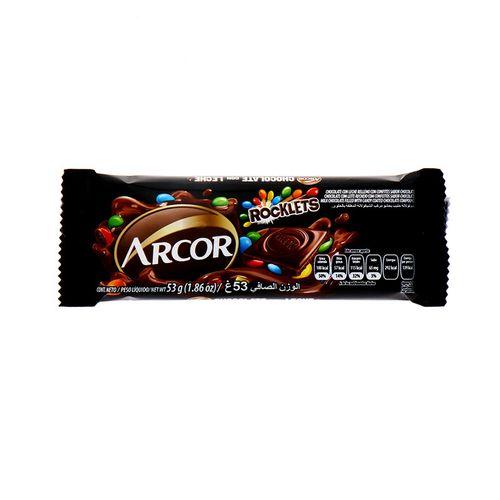 Chocolate Arcor Rocklets Con Leche 53 Gr