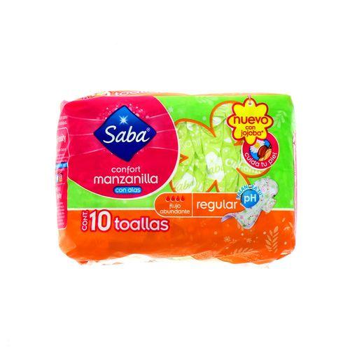 Toallas Sanitarias Saba Manzanilla Con Alas Regular 10 Un