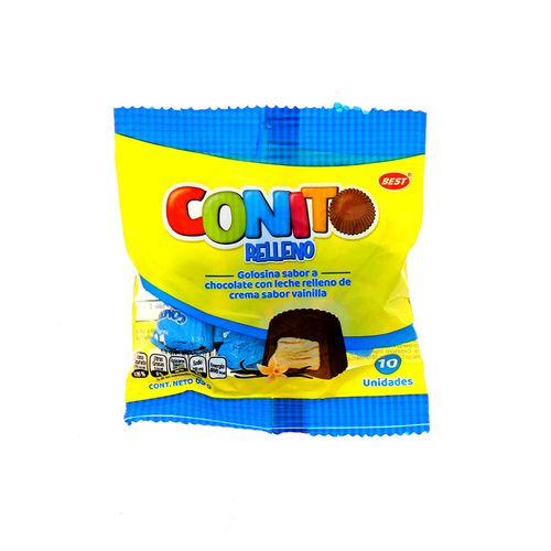 Chocolate Best Conito Golosina C/Leche Relleno Vainilla 85Gr