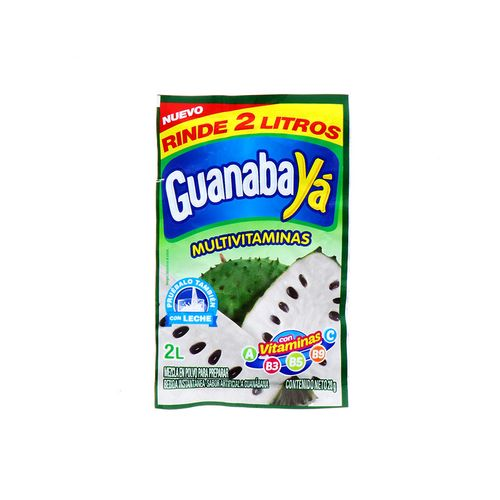 Bebida En Polvo Ya Guanábana Multivitaminas 20 Gr