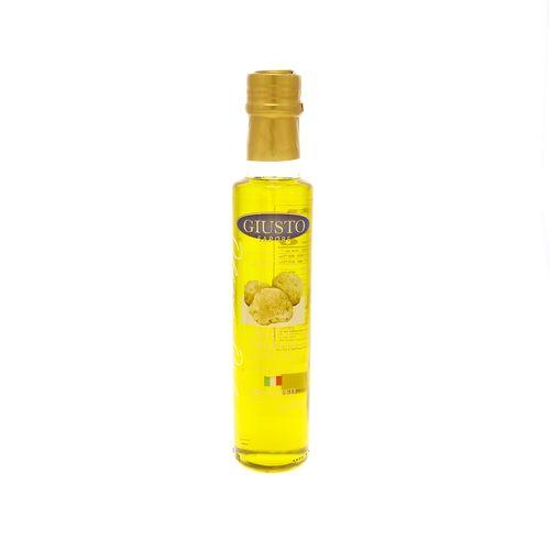 Aceite De Oliva Giusto Sapore Con Trufas Blancas 8.5 Oz