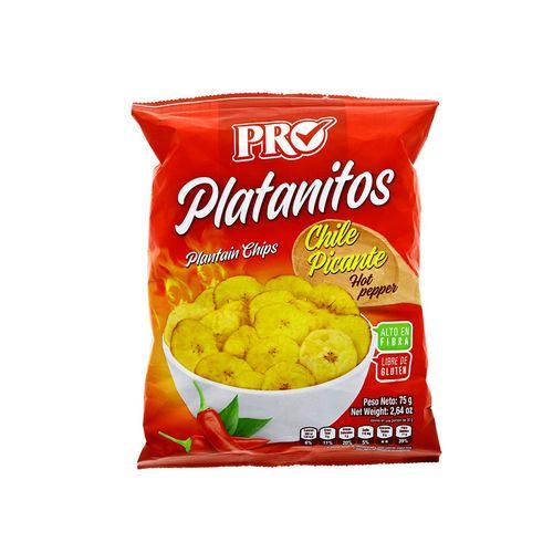 Platanitos Pro Con Chile 75 Gr